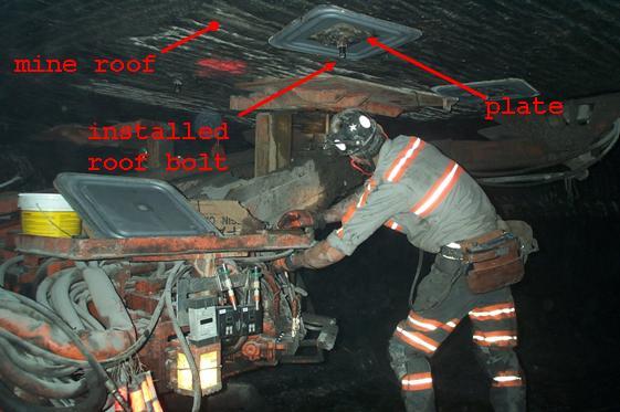 Less Sound Underground Reducing Roof Bolting Machine