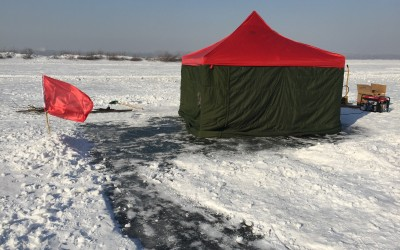 Experimental demonstration of under ice acoustic communication