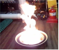 Picture 1 Fire with strong flame