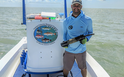 1aAB7 – Drum fish spawning doesn't miss a beat in the eye of a hurricane –  Christopher R. Biggs